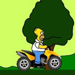 Play Homer ATV